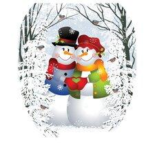 Snow Couple Toilet Seat Decal