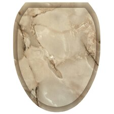 Marble Toilet Seat Decal