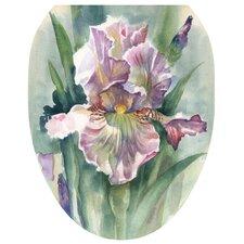 Watercolor Iris Toilet Seat Decal