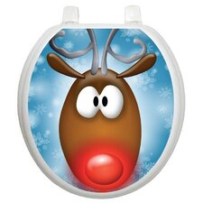 Holiday Reindeer Toilet Seat Decal