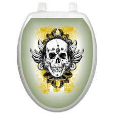Youth Skull Grunge Toilet Seat Decal
