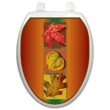 Seasonal Autumn Leaves Toilet Seat Decal