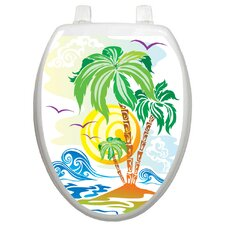 Themes Catch The Wave Toilet Seat Decal