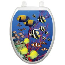 Themes Coral Reef Toilet Seat Decal
