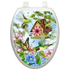 Themes Hummingbirds Toilet Seat Decal