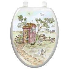 Themes Lori's Outhouse Toilet Seat Decal