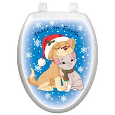 Holiday Peace On Earth Toilet Seat Decal