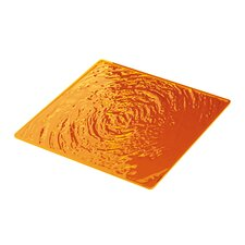 Aqua Plate Mat in Orange (Set of 2)