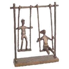 Children on Swings Figurine