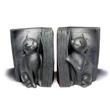Cats Playing with Books Book Ends (Set of 2)