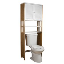 "Bamboo Bathroom 27"" x 71"" Free Standing Over the Toilet"