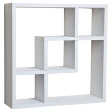 Evelyn Geometric Square Wall Shelf