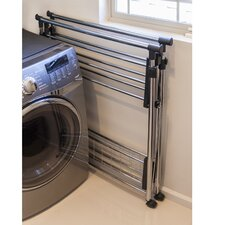 Folding Telescopic Double Garment Rack