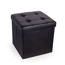 Upholstered Folding Storage Ottoman
