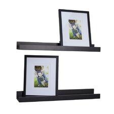 4 Piece Ledge Floating Shelf & Picture Frame Set