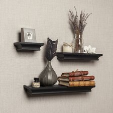 Cornice 3 Piece Ledge Floating Shelf Set