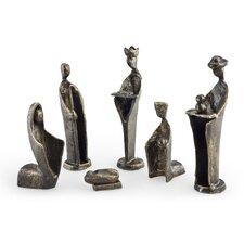 6 Piece Iron Nativity Sculpture Set