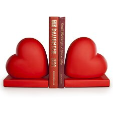 Red Hearts Book End (Set of 2)