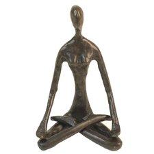 Female Yoga Lotus Figurine