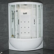 Steam Shower with Whirlpool Bathtub
