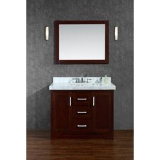 "Ashbury 42"" Single Bathroom Vanity Set with Mirror"