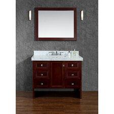 "Beckonridge 42"" Single Bathroom Vanity Set with Mirror"