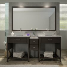 "Kennedy 73"" Double Sink Vanity Set with Mirror"