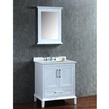 "Nantucket 30"" Single-Sink Bathroom Vanity Set with Mirror"