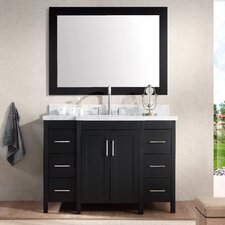 "Hollandale 49"" Single Sink Vanity Set with Mirror"