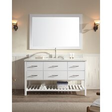 "Shakespeare 61"" Single Sink Vanity Set with Mirror"