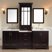 """Stafford 85"""" Double Sink Vanity Set with Mirror"""