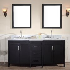 "Hollandale 73"" Double Sink Vanity Set with Mirrors"