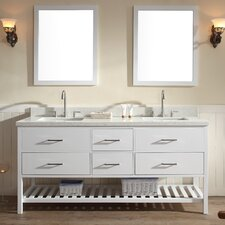 "Shakespeare 73"" Double Sink Vanity Set with Mirror"