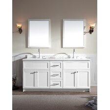 """Hamlet 73"""" Double Bathroom Vanity Set with Mirrors"""