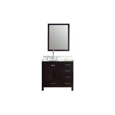"Cambridge 37"" Single Bathroom Vanity Set with Mirror"