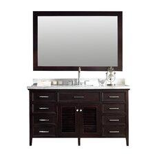 "Kensington 61"" Single Bathroom Vanity Set with Mirror"