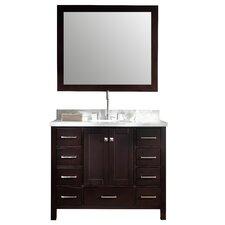 """Cambridge 43"""" Single Vanity Set with Mirror"""