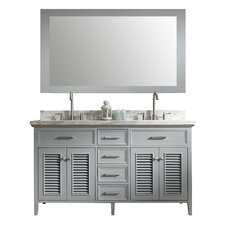 "Kensington 61"" Double Bathroom Vanity Set with Mirror"