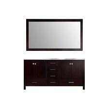 """Cambridge 73"""" Double Bathroom Vanity Set with Mirror"""