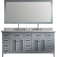 "Kensington 73"" Double Bathroom Vanity Set with Mirror"