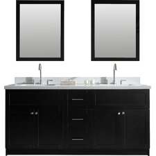 "Hamlet 73"" Double Bathroom Vanity Set with Mirrors"