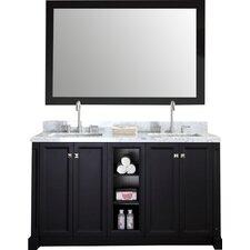 "Westwood 61"" Double Bathroom Vanity Set with Mirror"