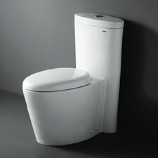 Monterey Contemporary Elongated One Piece Toilet with Dual Flush in White