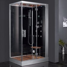 "Platinum 47"" x 35.4"" x 89"" Pivot Door Steam Shower with Right Side Configuartion"