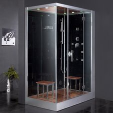 "Platinum 59"" x 35.4"" x 89.2"" Pivot Door Steam Shower with Right Side Configuration"