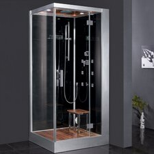 "Platinum 39.3"" x 35.4"" x 89.2"" Pivot Door Steam Shower with Right Side Configuration"