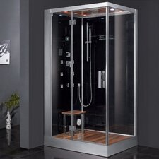 "Platinum 39.3"" x 35.4"" x 89.2"" Pivot Door Steam Shower with Left Side Configuration"