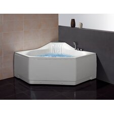 """59"""" x 59"""" Whirlpool Tub with Waterfall Faucet"""