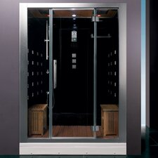 "Platinum 59"" x 32"" x 87.4"" Neo-Angle Door Steam Shower"