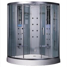 "Platinum 59"" x 59"" x 88.6"" Neo-Angle Door Steam Shower"